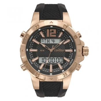 Relógio Condor Masculino Anadigi Dourado Cobjk657ac/4j