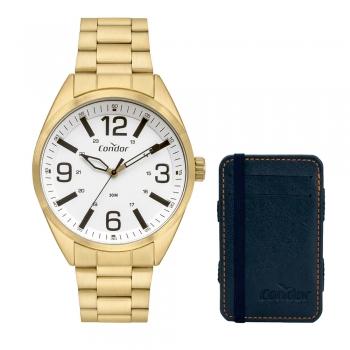 Relógio Condor Masculino Dourado COPC21AEEU/K4X + Brinde