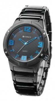 Relógio Curren Masculino Analógico 8111 - Preto E Azul