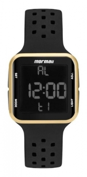 Relógio Digital Esporte Preto Dourado Mormaii Original Feminino Masculino Mo6600/8d