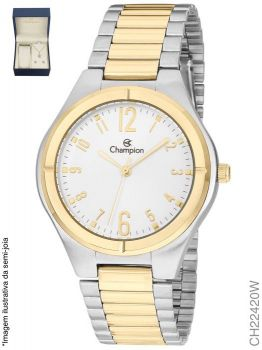 Relógio Feminino Champion CH22420W Misto + Kit Semijóia