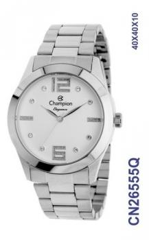 Relógio Feminino Champion CN26555Q Prata Elegance