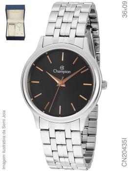 Relógio Feminino Champion Elegance CN20435I Prata Aço