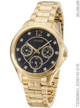 Relógio Feminino Citizen TZ28360U Dourado