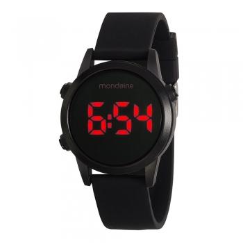Relógio Feminino Digital Dourado Preto Mondaine Original Garantia