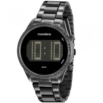 Relógio Feminino Digital Mondaine Preto 32122lpmvpf3