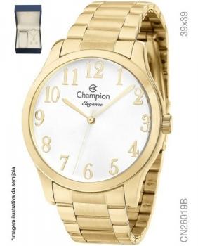 Relógio Feminino Kit Champion Dourado CN26019B