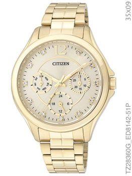 Relógio Feminino Ladies TZ28360G Dourado