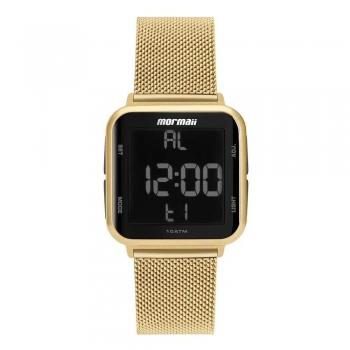 Relógio Feminino Mormaii Dourado Digital Mo6600ah/8d A Prova D Água