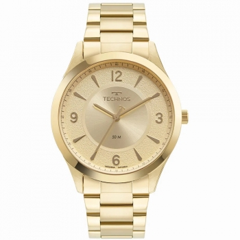 Relógio Feminino Technos Dourado Ouro Prova d'água Garantia