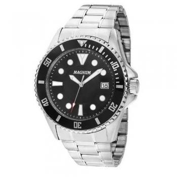 Relógio Magnum Masculino Ma33059t Casual Prateado