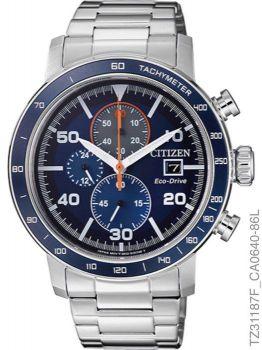 Relógio Masculino Citizen Cronógrafo TZ31187F Eco-Drive Aço Inoxidável Prata