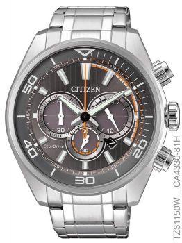 Relógio Masculino Citizen Eco-drive Tz31150w Aço Inoxidável Prata