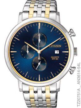 Relógio Masculino Citizen Prata Dourado TZ20751A