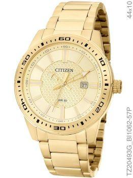 Relógio Masculino Citizen Analógico Dourado