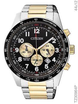 Relógio Masculino Citizen TZ30964P Prata/Dourado AN8164-51E