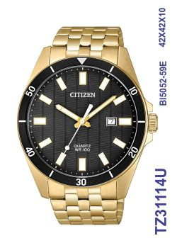 Relógio Masculino Citizen TZ31114U Analógico Aço Inoxidável Dourado