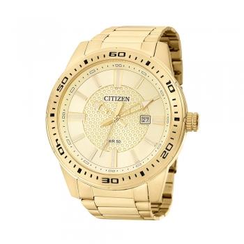 Relógio Masculino Dourado Citizen Ouro 18k Garantia