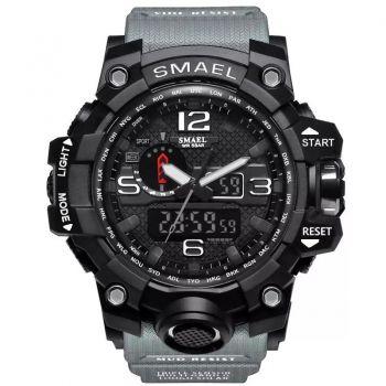 Relógio Masculino Militar Esporte Smael 1545 Prova Agua Cinza
