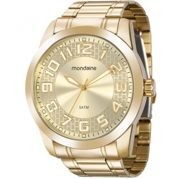 Relógio Masculino Mondaine A Prova D'Água 99130gpmvde4 Original Garantia Ouro