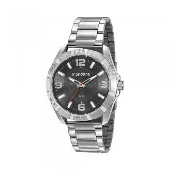 Relógio Masculino Mondaine A Prova D' Agua Prata Original C/ Garantia
