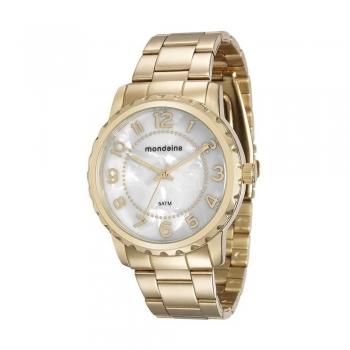 Relógio Mondaine Feminino 76653lpmvde1 Ouro A Prova D' Agua Original + Garantia