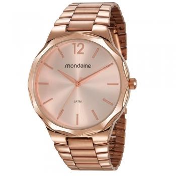 Relógio Mondaine Feminino Analógico Rose Gold Original Garantia 1 Ano A Prova D' Agua