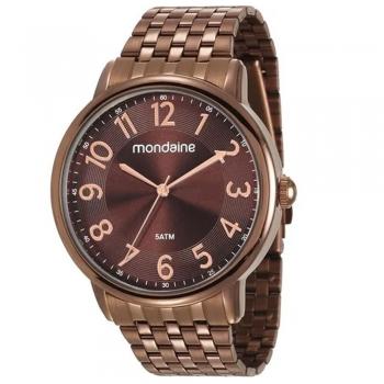 Relógio Mondaine Feminino Chocolate Original A Prova D'Agua Com Garantia53673lpmvme2