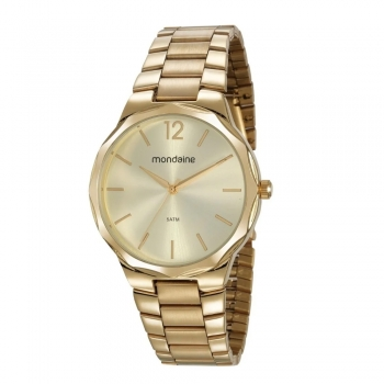 Relógio Mondaine Feminino Com Garantia A Prova D'Agua 53750lpmvde1 Ouro