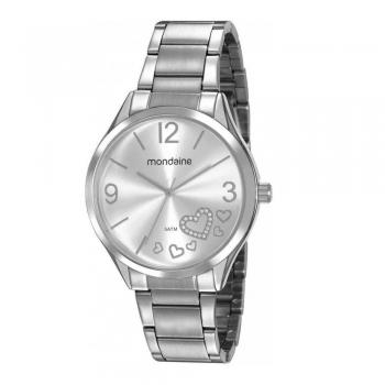 Relógio Mondaine Feminino Coração Prata 53821l0mvne2 Original Com Garantia