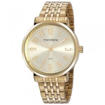 Relógio Mondaine Feminino Dourado 32107lpmvde1