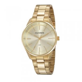 Relógio Mondaine Feminino Dourado Minimalista