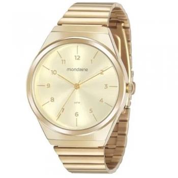Relógio Mondaine Feminino Dourado Números 32157lpmvde1