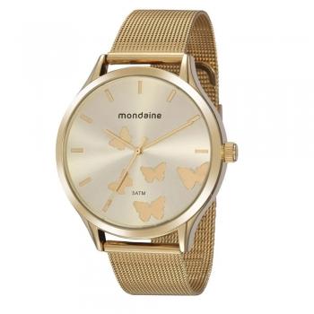 Relógio Mondaine Feminino Original 76752lpmvde1 À Prova D'Água Ouro