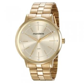Relógio Mondaine Feminino Original À Prova D' Agua 53749lpmvde1 Ouro