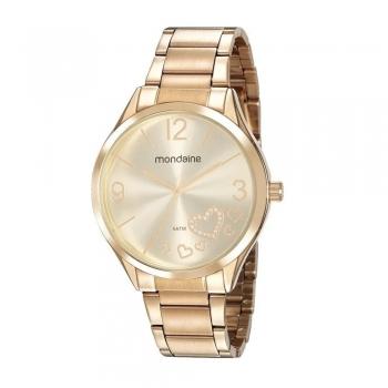 Relógio Mondaine Feminino Ouro  Coração 53821lpmvde1 Com Garantia A Prova D' Água