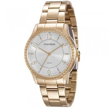 Relógio Mondaine Feminino Ouro Fundo Branco Original