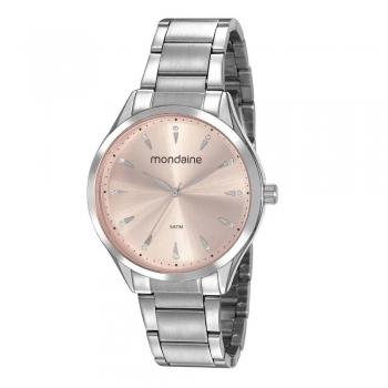 Relógio Mondaine Feminino Prata Original Analógico Barato Garantia 1 Ano