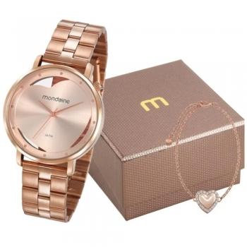 Relógio Mondaine Feminino Rose Gold Original Garantia + Brinde