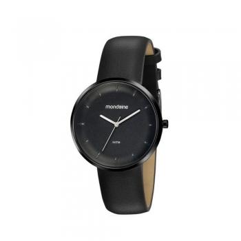 Relógio Mondaine Masculino 32137GPMVPH1 Preto Couro