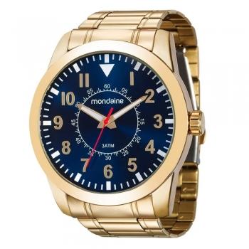 Relógio Mondaine Masculino Original Garantia - 99138gpmvde2 Ouro