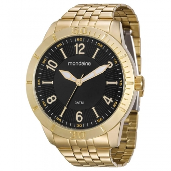 Relógio Mondaine Masculino Original Garantia Barato Ouro