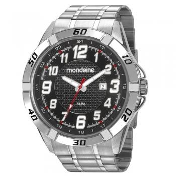 Relógio Mondaine Masculino Prata Grande 53833g0mvne3 Original Com Garantia