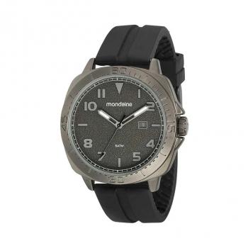 Relógio Mondaine Masculino Preto 5atm Pulseira Silicone