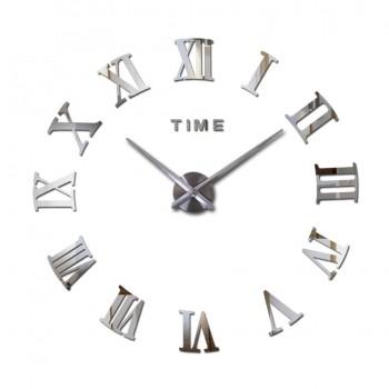 Relógio Parede Sala Grande Espelho Adesivo Decoração Muhsein
