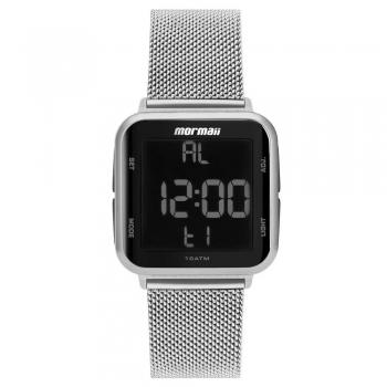 Relógio Prata Feminino Digital Mormaii Prova D'água MO6600AK/7K