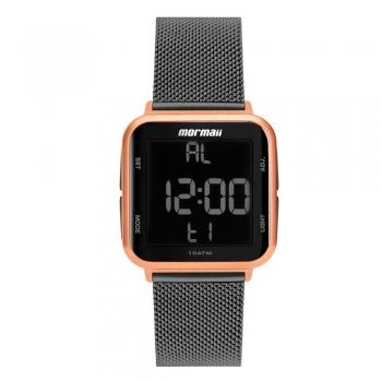 Relógio Preto Rose Feminino Digital Mormaii Prova D'água MO6600AL/7J
