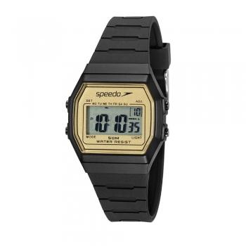 Relógio Speedo Vintage Digital Masculino Feminino Quadrado Preto