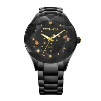 Relógio Technos Feminino Crystal 2039AUDTM/1P Preto Oferta