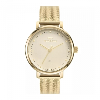 Relógio Technos Feminino Dourado Ouro Prova d'água Garantia Style